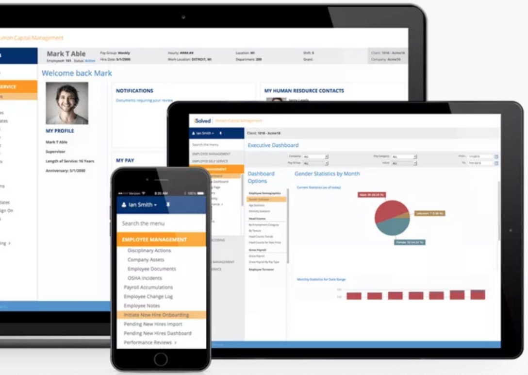 Integrated HR, Payroll, Benefits administration and Workers Compensation Software