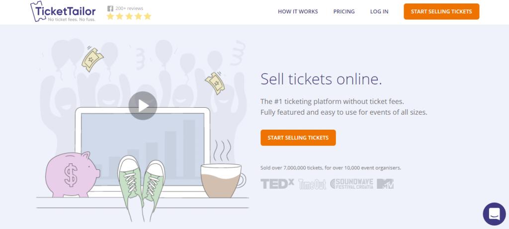 ticket tailor información reseñas y precios 2018