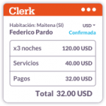 Clerk Software Hotelería